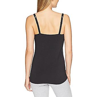 Brand - Arabella Women's Henley Nursing Tank, Jet Black, Large