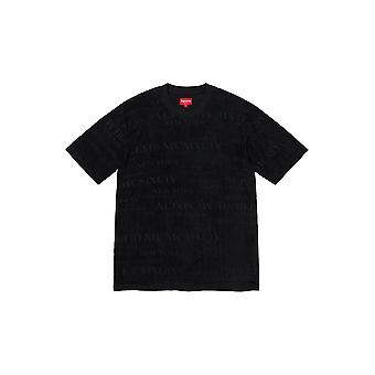 Supreme Mcmxciv Terry S/S Top Black - Kleidung
