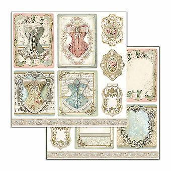 Stamperia Princess Corsets 12x12 Inch Paper Sheets (10pcs) (SBB716)