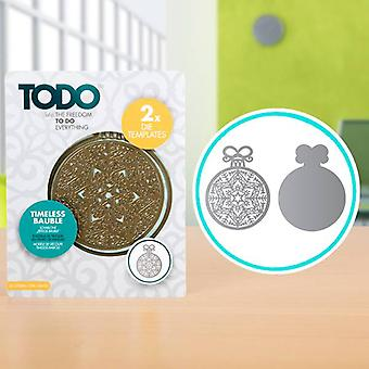 TODO Die Template Set Timeless Bauble