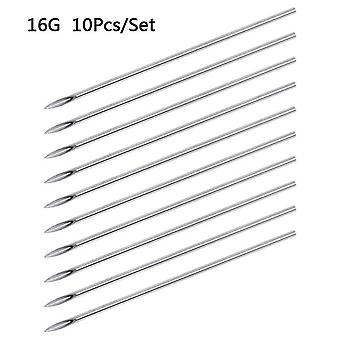 Piercing Sterilized Needles Tattoo - Disposable Needles For Navel Nipple  Ear  Nose Lip Sterile Body