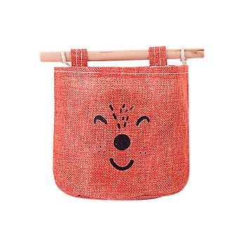 Single Pocke Hanging Storage Bag Navy Orange