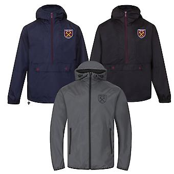 West Ham United Mens Jacket Shower Windbreaker OFFICIAL Football Gift