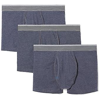 Essentials Mænd's 3-Pack Performance Cotton Stretch Trunk, Navy Heather...