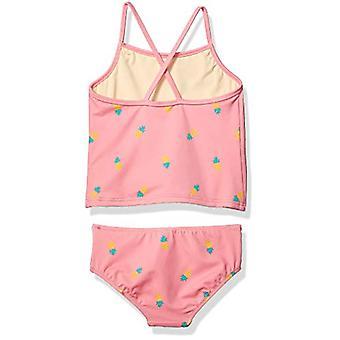 Essentials Toddler Girlăs 2-Piece Tankini Set, Ananas roz, 3T