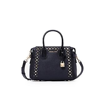 MICHAEL KORS MERCER BELTED BLACK HANDBAG