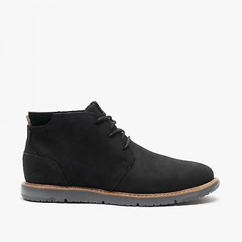 TOMS Navi Mens Leather Ankle Boots Black