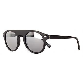 النظارات الشمسية Unisex Cat.3 مات الأسود / الفضة (amm19103b)