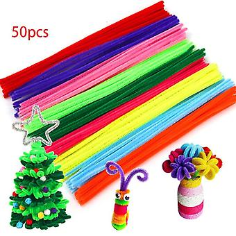 30/50/100pcs Multicolour Chenille Stems Pipe Cleaners Handmade -art Crafts