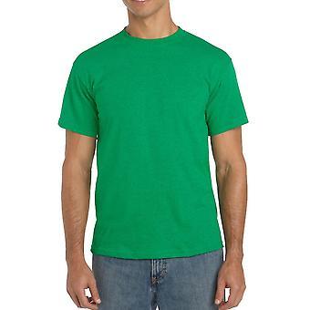 Gildan G5000 Plain Heavy Cotton T Shirt in Antique Irish Green