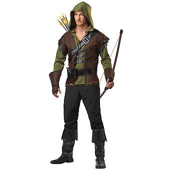 Robin Hood middelalderske Sherwood Archer helten tyver Warrior menn drakt