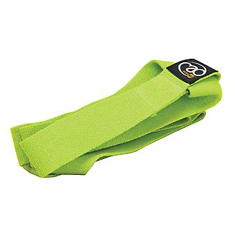 fitness mad yoga belt & mat carry strap lime green