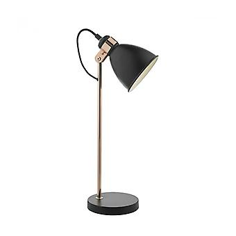 Frederick Black And Copper 1-light Table Lamp