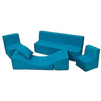 Peuter meubelset schuim uitgebreid blauw