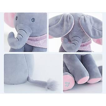 30cm Peek A Elephant Stuffed Plush Doll Electric Play,