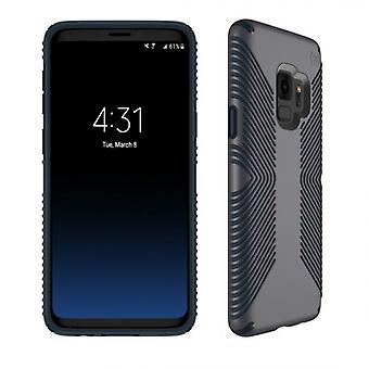 Speck Presidio Grip -kotelo Samsung Galaxy S9: lle - Grafiitti harmaa / hiilen harmaa