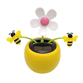 Solar Powered Flower Insect Dancing Doll Toy Home Decor & bil Ornament Gul