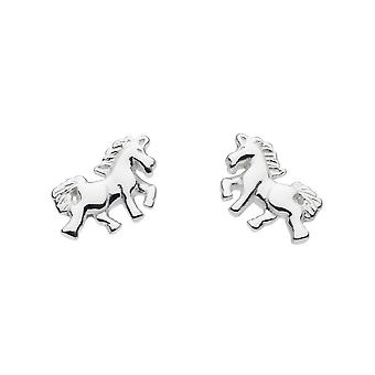 Dew Sterling Silver Dinky Mythical Unicorn Stud Earrings 4669HP024