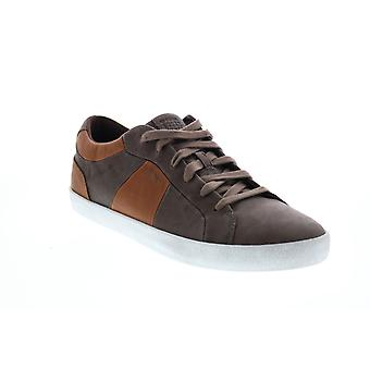 Geox U Smart  Mens Brown Leather Lace Up Euro Sneakers Shoes