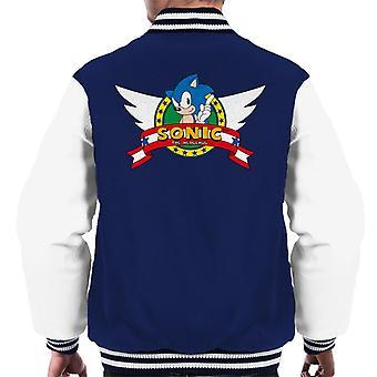 Sonic der Hedgehog geflügelte Logo Men's Varsity Jacke