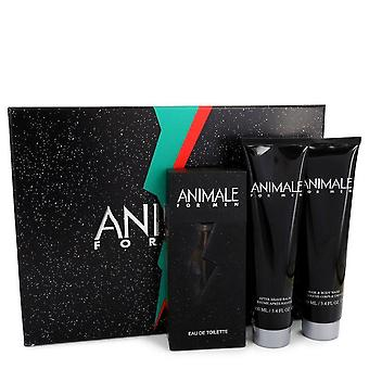 Animale Gift Set By Animale 3.3 oz Eau De Toilette Spray + 3.4 oz After Shave Balm + 3.4 oz Body Wash