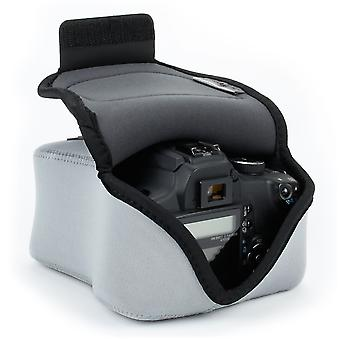 Usa gear dslr camera bag for digital camera with neoprene protection, holster belt loop and accessor wom35465