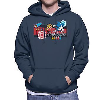 Sonic der Igel Ikonen Leben in der Fast Lane Männer's Kapuzen Sweatshirt