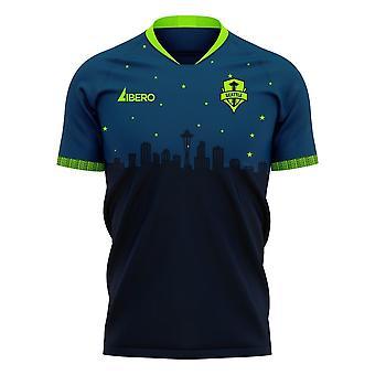 Seattle Sounders 2020-2021 Away Concept Football Kit (Libero) - Womens