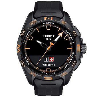 Tissot T1214204705104 Mens T-Touch Connect Solar Orange & Black Silicone Watch