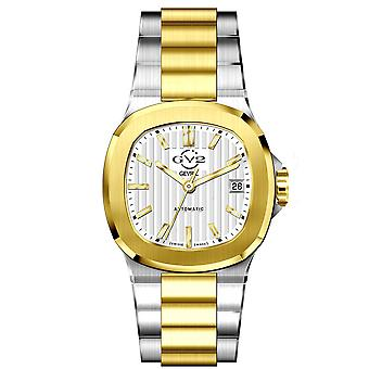 GV2 Automatic Men's Potente White Dial Two Tone Gold Bracelet Watch