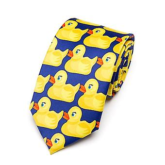 Men's Yellow Rubber Duck Tie Fashion Necktie From Hot Tv Show  (yellow)