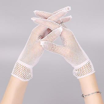 1 Par Fishnet Mesh Glove, Lady Protection Lace Elegante Luvas de Estilo