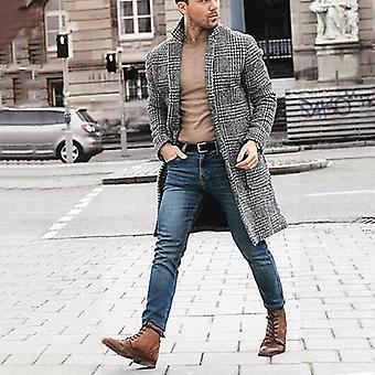 Men Wool Blends Coats Overcoat Winter Warm Clothes Wool Outerwear Blends Coat