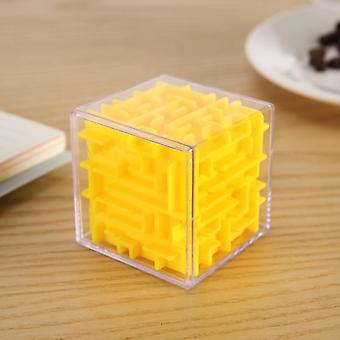3d Maze Magic Cube - Transparent Six Sided Puzzle Speed Rolling Ball Game