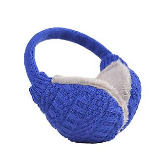 Knit Earmuffs Knitted Warm Earmuffs Soft Washable for Winter Outdoor Blue