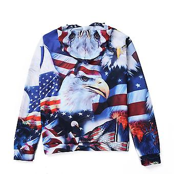 Autumn Winter Women/men Animal Graphic 3d Wolf Print Hoodie Sweater
