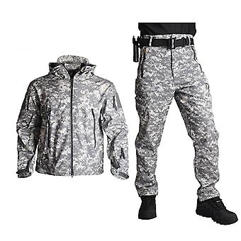 Shark Skin Military Coat+pant