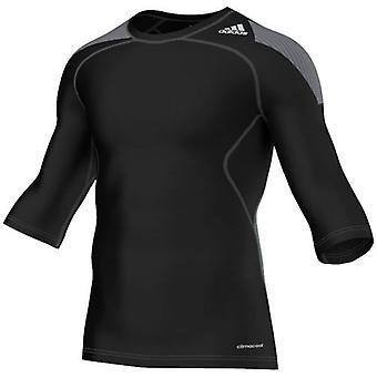 Adidas Mens Techfit Climachill 3/4 Sleeve Sıkıştırma Üst Siyah S20424 A79C