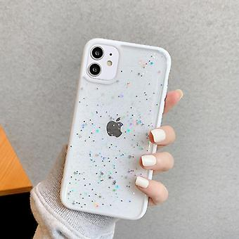 Star Bling Glitter Phone Case For Iphone - Clear Back Love Heart Tpu Cover