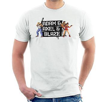 Sega Streets Of Rage Adam Axel og Blaze Pixelated Menn's T-skjorte
