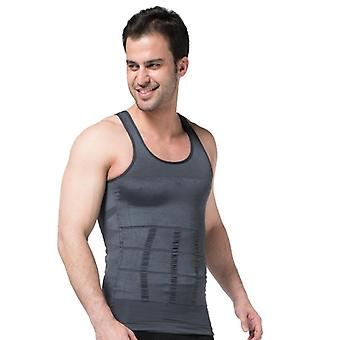 Plus Size Men's Shapewear, Tank Waistcoat, Chest And Back Body Underwear