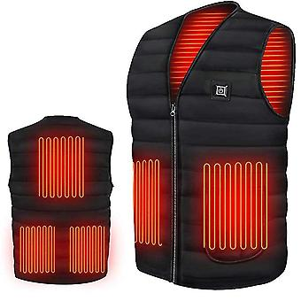 Men Autumn, Winter Smart Heating Cotton Vest, Usb Infrared, Electric Heating,