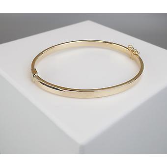 14 k d'esclaves chrétiens or jaune bracelet