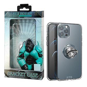 iPhone 12 e 12 Pro Case transparente com anel e ímã