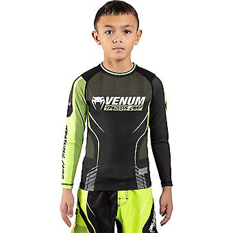 Venum Training Camp 3.0 Kids Rash Guard Preto/Neo Amarelo