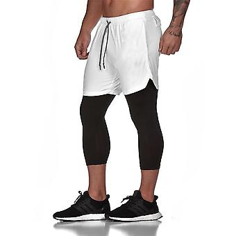 Shorts masculinos e leggings 2 in1 Sportswear Gym Fitness Sport Pants