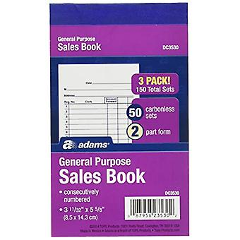 Adams General Purpose Sales Books, DC3530, Caso de 18