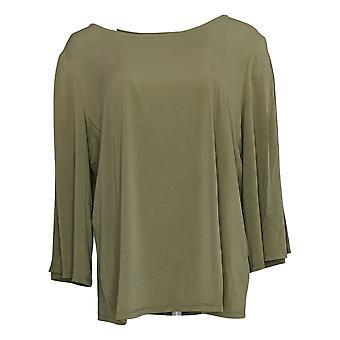 G.I.L.I. tem que amá-lo Women's Plus Top Split Sleeve Green A306812