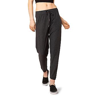 Women's Elastic Waistband Moss Jersey Lounge Pant with Elastic Cuffed Hem and 27-Inch Inseam