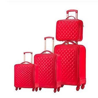 旅行スーツケース, Pu レザー, ヴィンテージ ローリング 荷物セット